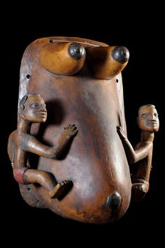 Female belly mask - Yoruba / Nago - Nigeria / Benin