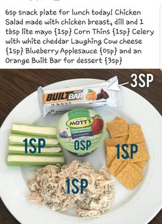 ideas weight watchers menu ideas cream cheeses for 2019 Weight Watchers Menu, Weight Watchers Lunches, Weight Watchers Smart Points, Lunch Snacks, Healthy Snacks, Healthy Plate, Healthy Eating, Clean Eating, Healthy Recipes