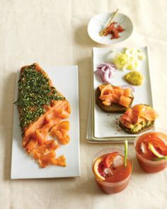 Gravlax with Sweet Mustard Sauce -- This cold-cured fish needs to stand in the refrigerator for at least one day, so plan ahead. The resulting fresh, delicate taste will be worth the wait.