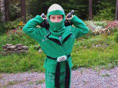Green Ninjago Costume - SIZE 6 - Guaranteed for Halloween. $150.00, via Etsy.