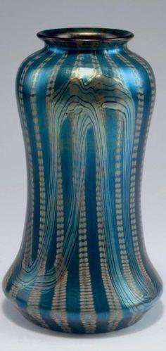 Loetz, Klostermühle. 'Phänomen' vase, model for the Paris World Fair 1900.