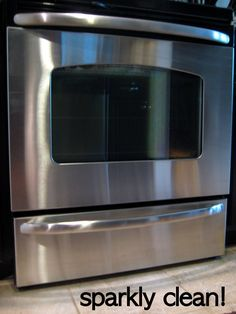 Check out my dirty, crusty stainless steel appliances… specimen 1: specimen 2: Remember when I cleaned out the cabinets under my kitchen sink? It was super exciting,  you should definitely check it out I found  this free sample of the Bar Keepers Friend hidden away in the back corner under the sink.  This stuff works …