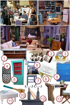 Recreate the style of Monica's apartment in Friends for #DIYTheRoom with Cassie from Cassiefairy.