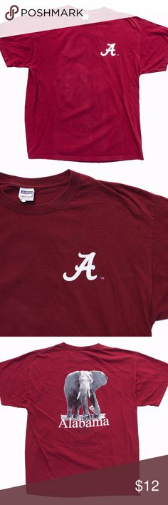 I just added this listing on Poshmark: Alabama Crimson Tide Elephant Logo Red T-shirt XL. Cool T Shirts, Tee Shirts, Tees, T Shirt Label, College T Shirts, Elephant Logo, Alabama Crimson Tide, Clothing Items, Stains