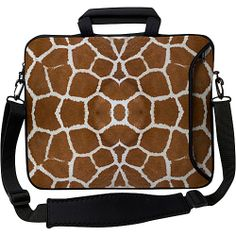"""#Business, #DesignerSleeves, #LaptopSleeves - Designer Sleeves 17"""" Executive Laptop Sleeve Giraffe - Designer Sleeves Laptop Sleeves"""