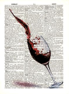 "Dictionary Art Print,Vintage poster,print,Gift,Wall decor,drawing,Digital,Poster design Bar Kitchen,Home & Living,Home Decor,more,""Wine""4"