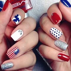 fourth of july nails 14