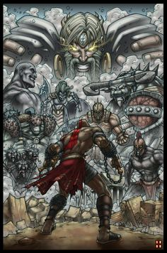 Good things to y'all. God Of War (c) SCE Studios. God Of War Test 01 Greek Monsters, God Of War Series, Kratos God Of War, Art Tumblr, Gaming Wallpapers, Manga Illustration, Video Game Art, Anime Comics, Game Character