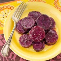 Maple Baked Purple Sweet Potatoes
