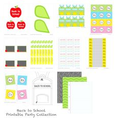 back to school printable collection, for sale, one free printable but some cute ideas Back To School Party, Back To School Hacks, Back To School Shopping, School Tips, School Parties, School Fun, School Stuff, Teacher Conferences, Student Gifts