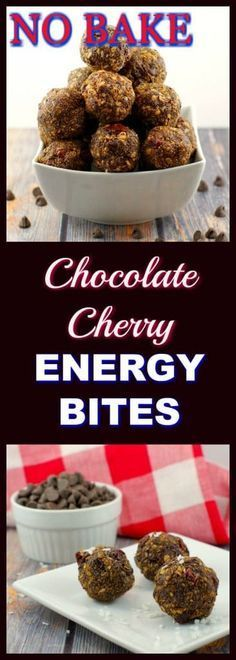 No bake Chocolate Cherry Energy Bites | Foodmeanderings. com No bake and healthy, these chocolate cherry energy bites are the perfect guilt-free and healthy chocolate snack or dessert! #energybites #energyballs #healthychocolate #healthychocolaterecipes #healthychocolates #healthysnacks #healthydessert #healthydessertrecipes