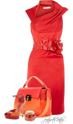 """""""Pink and Orange"""" by partywithgatsby on Polyvore"""