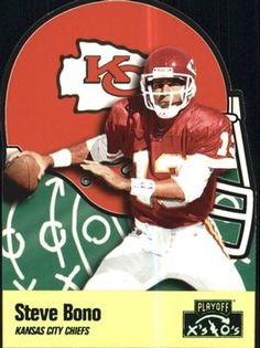 1996 Playoff Prime - X's and O's #177 Steve Bono Front