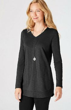 New J Jill Black & White Long Sleeve Pattern Rayon Shirt Dress Women's Clothing All Sizes Clothing, Shoes & Accessories