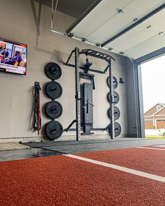 PRx Performance - Lift Big in Small Spaces (as seen on Shark Tank! Home Gym Basement, Home Gym Garage, Diy Home Gym, Gym Room At Home, Home Gym Decor, Best Home Gym, Crossfit Garage Gym, Garage House, Diy Garage
