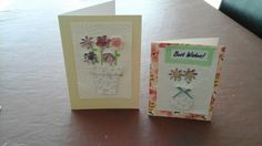 Punched and embossed flower cards.