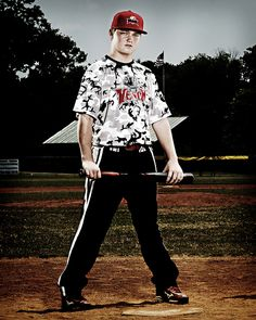 Cool baseball portrait idea