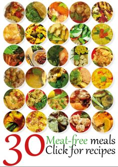 30 quick and easy meat free recipes