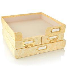 Anna Griffin® Craft Room Paper Organizer Set - Ivory/Off White