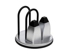 Stainless Steel Napkin Holder with Salt & Pepper Shakers