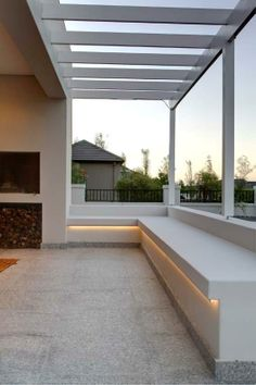 Louis Phillips Architects # Val de Vie Estate # Outdoor entertainment # Strip lighting # Built in seating