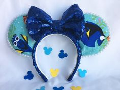 Finding Dory Mickey/Minnie Mouse Custom Ears by MagicalEarsbyDiane