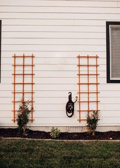 DIY TRELLIS FOR VINES OR IVY ON HOUSE