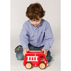 Plywood Fire Engine from PoshTots (LOVE the idea of wooden toys instead of toxic plastic ones and posh tots has a few different ones)