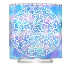 Shower Curtain featuring the digital art Tie Dye Mandala 2 by Sharon Norman
