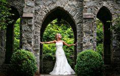 Bride in an Anjolique wedding gown