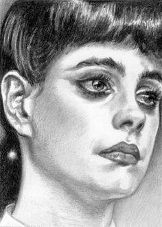 Blade Runner - Original pencil portrait of Rachel (Sean Young) by ACEO