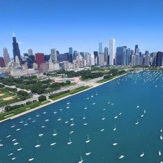 #Summer in the #city. #Chicago #windycity #aerialphotography #mychicagopix #drone #dronegear #DJI #djiglobal #phantom3professional #aerial #lake #boat by soaringbadger