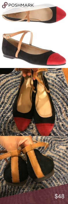 """Seychelles / just the beginning ballet flats Leather Imported Synthetic sole Heel measures approximately 0.5"""" Seychelles Shoes Flats & Loafers"""