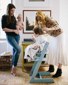 A CUP OF JO: How to cut a child's hair featuring Stokke Tripp Trapp high chair
