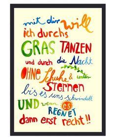Frau Ottilie ★ Kunstdruck Sommer gelb