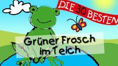 Hm hm macht der grüne Frosch im Teich - Die besten Spiel - und Bewegungs... Kids Origami, Little Giants, Activities For Kids, Youtube, Songs, Baby, Fictional Characters, Leo, Music