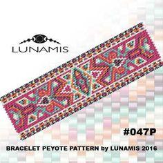 Peyote bracelet pattern odd count peyote by LunamisBeadsPatterns Bead Loom Patterns, Peyote Patterns, Jewelry Patterns, Bracelet Patterns, Beading Patterns, Cross Stitch Patterns, Peyote Bracelet, Bead Loom Bracelets, Peyote Beading