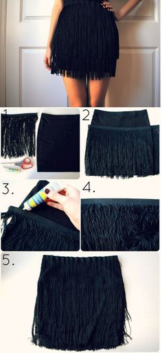 Well, Halloween is over, but you can save this idea of October or try it out on the next themed-party. This will be your unique hand-made fabulous costume – a super cute flapper fringe skirt.…
