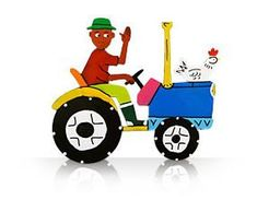 Tractor - Tin Art Fridge Magnet by GoodiezOnline on Etsy