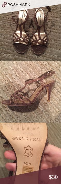 Antonio Melani brown shimmery heels! Only worn to a couple of functions! Still in great condition! ANTONIO MELANI Shoes Heels