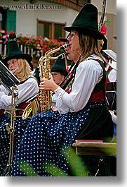 Dolomites, Women, Saxophones