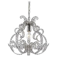 You should see this Splendor 1 Light Foyer Pendant in Chrome on Daily Sales!
