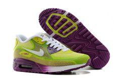 watch 48aaa 7e39a Nike Air Max 90 Women s Air Max 90 Running Shoes 25Th Anniversary A+ Purple  Green