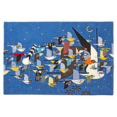 Charley Harper Flock of Birds Rug