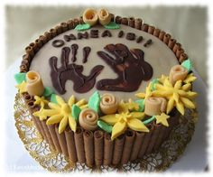 Very cute fathers day cake (by kinuskikissa instructions in Finnish, with photos) Fathers Day Cake, Birthday Gifts, Birthday Cake, Cookie Decorating, Decorating Ideas, Cute Cakes, Creative Cakes, Cupcake Cookies, Cooking Recipes