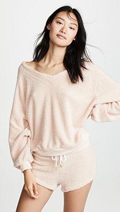 OCTAVE® Ladies Grey Cream Long Sleeve Top Polka Dot Long Pyjama Set with Pocket