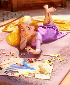Out of curiosity -- the bird on the jigsaw, is that the one that Jane was trying to draw in Tarzan??