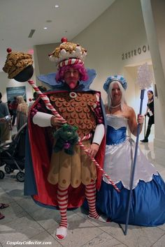 Candy Land costumes for the birthday child's parents... yes, I would wear it. It's fun to dress in character at your kids party.  These are from Jessica Narro.