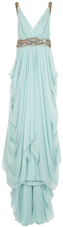 Mint long bridesmaid dress - My wedding ideas