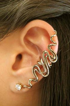 Bronze Sidewinder Ear Cuff